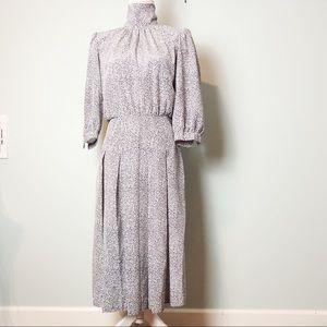 Vintage Via Sant Andrea mock neck dress prairie